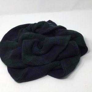 Ralph Lauren cashmere scarf Blue green plaid